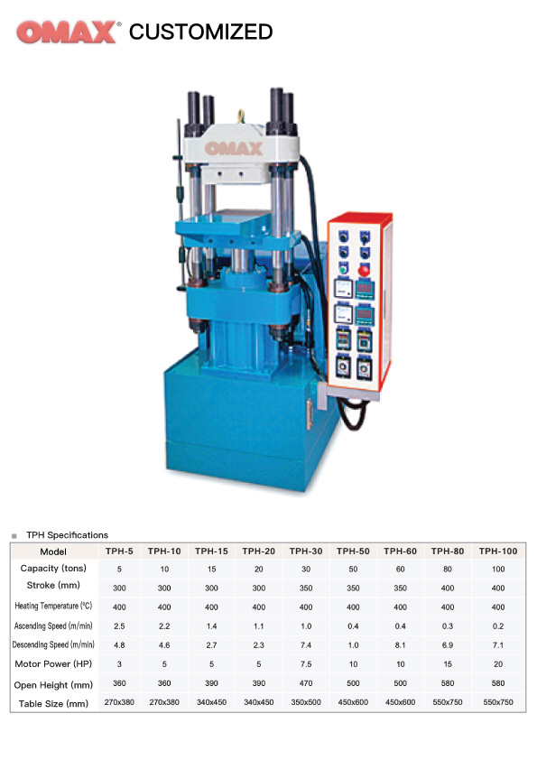 Hot Forming Hydraulic Press (TPH) - Product - OMAX